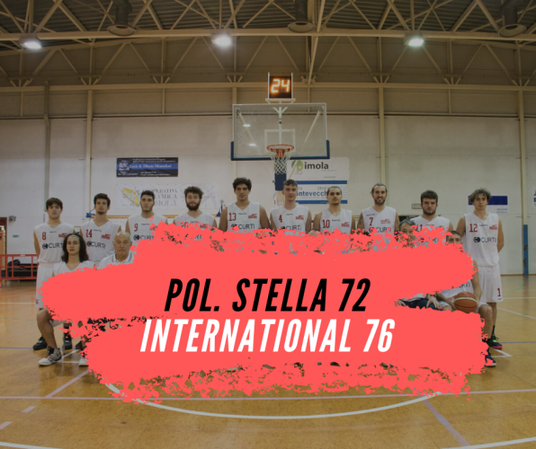 Pol. Stella Rimini  -   International  Curti Imola 72-76 (24-15; 35-40; 55-58)