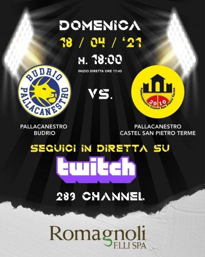 Il pre - partita Pallacanestro Budrio - Pallacanestro Castel San Pietro