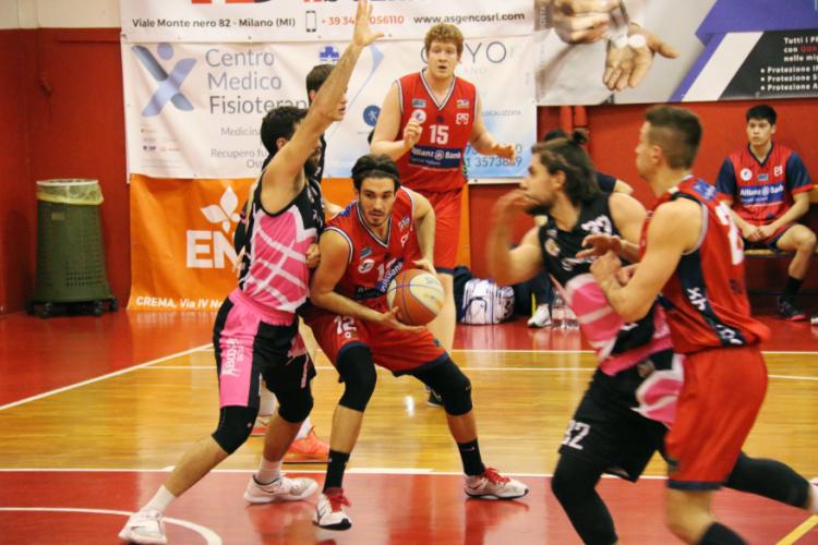 Bruciante sconfitta del Bologna Basket 2016 a Crema : 84 - 53
