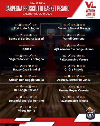 La Carpegna Prosciutto Basket Pesaro debutta contro la Fortitudo Bologna alla Vitrifrigo Arena!