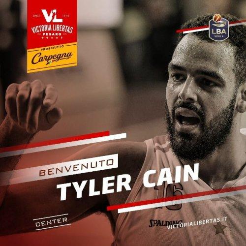 Tyler Cain è il nuovo centro della Carpegna Prosciutto Basket Pesaro!