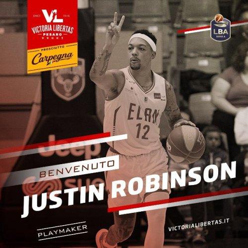 Justin Robinson firma con la Carpegna Prosciutto Basket Pesaro!