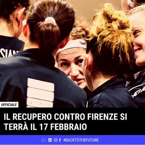 Faenza Basket Project E-Work : la data del recupero contro Pall. Femminile Firenze