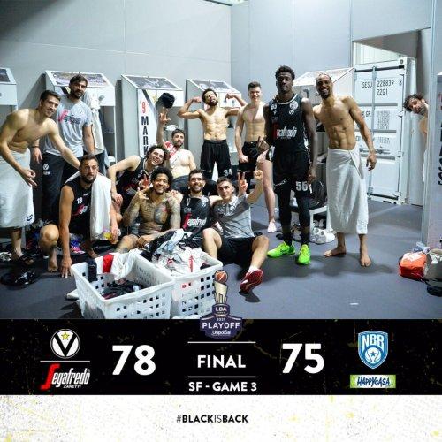 Semifinale Play - Off  Gara 3 | Virtus Segafredo Bologna  vs  Happy Casa Brindisi: 78-75