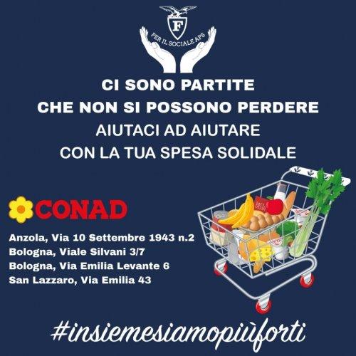 Fortitudo Pallacanestro Bologna : da martedì 7 aprile  - Aiutaci ad Aiutare - con la Spesa solidale