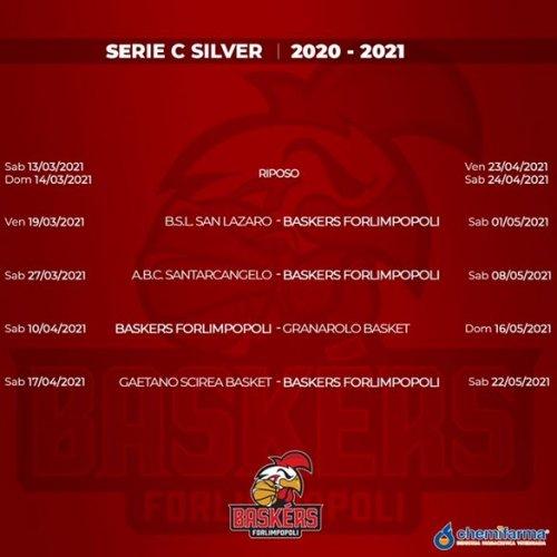 Baskèrs Forlimpopoli : Il calendario provvisorio del Campionato Serie C Silver