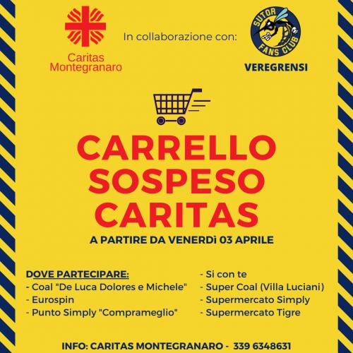 """Caritas e tifosi insieme per il """" Carrello  Sospeso"""""""