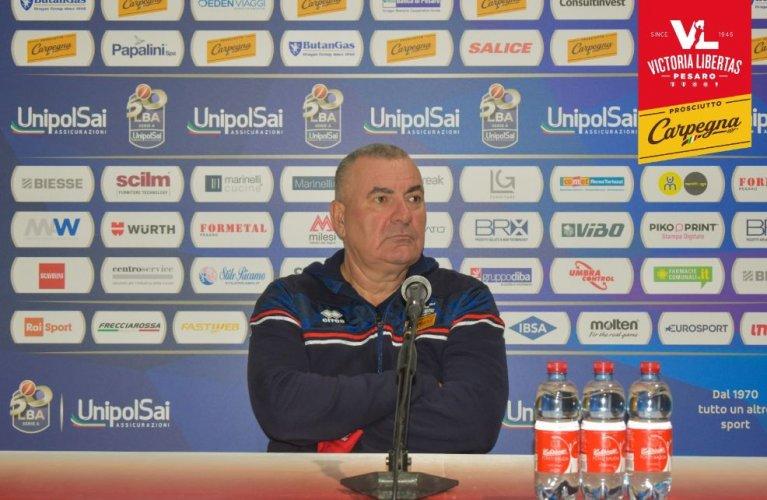 Coach Jasmin Repesa presenta Carpegna Prosciutto Basket Pesaro - Dolomiti Energia Trento