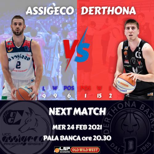 Assigeco Piacenza – Derthona Basket: la presentazione