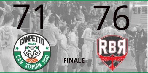 Luciana Mosconi Ancona - Albergatore Pro Rinascita Basket Rimini   71 - 76