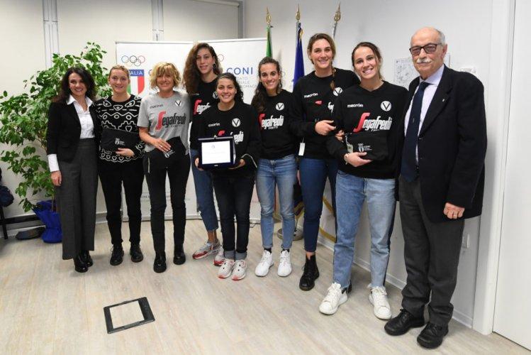 La Virtus Segafredo Femminile premiata dal CONI Point di Bologna