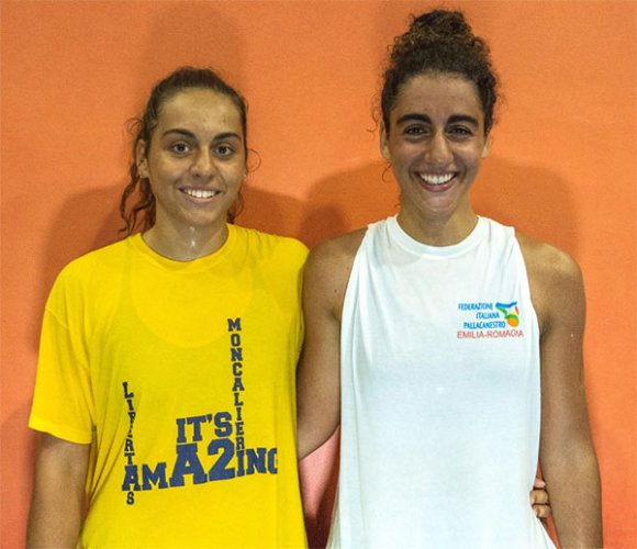 Eleonora e Noemi Duca alla Happy Basket