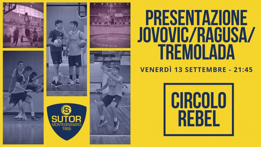 Al Rebel Club La Sutor presenterà Jovoviv, Ragusa e Tremolada.