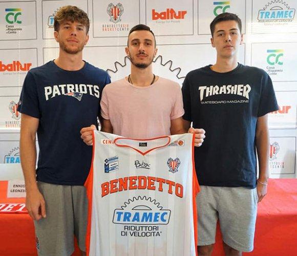 Tramec cento, presentato lo sponsor e i giocatori Leonzio, Paesano e Venturoli