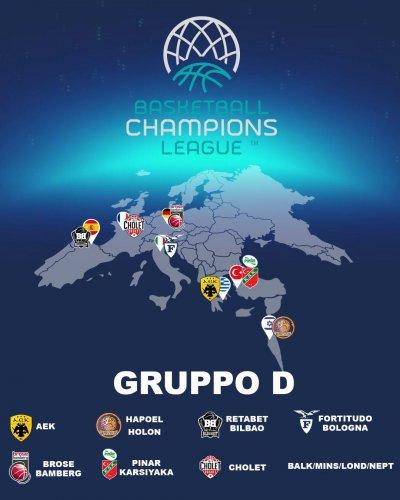 Sorteggiati i gironi della BCL: Fortitudo Bologna inserita nel gruppo D