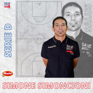 Coach Simone Simoncioni. è il nuovo allenatore della Salus Pallacanestro Bologna