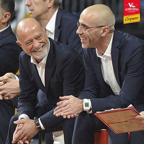 Carpegna Prosciutto Basket Pesaro  :  Intervista doppia a Giancarlo Sacco e Paolo Calbini