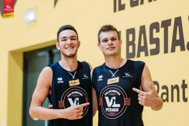 Carpegna Prosciutto Pesaro Basket  : Intervista Doppia a Nicolas Alessandrini e Beniamino Basso