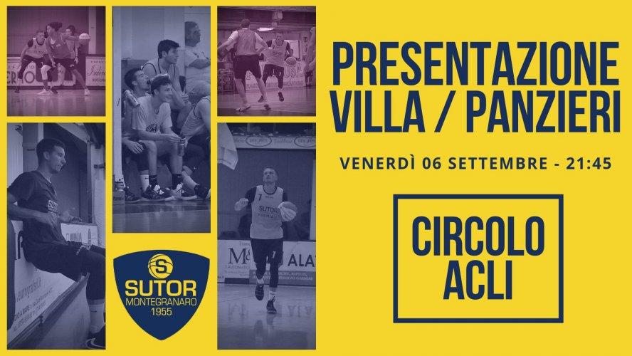 Sutor Basket Montegranaro : I nuovi si presentano all'ACLI : ecco Villa e Panzieri.