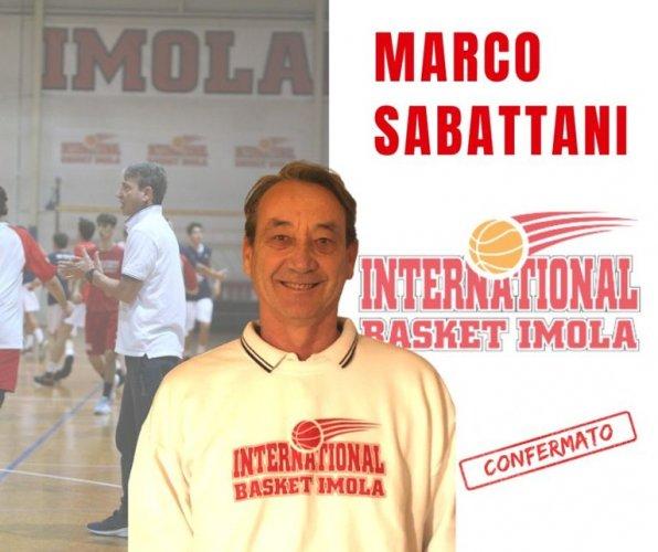 Marco Sabattani ancora al fianco dell'International Basket Imola