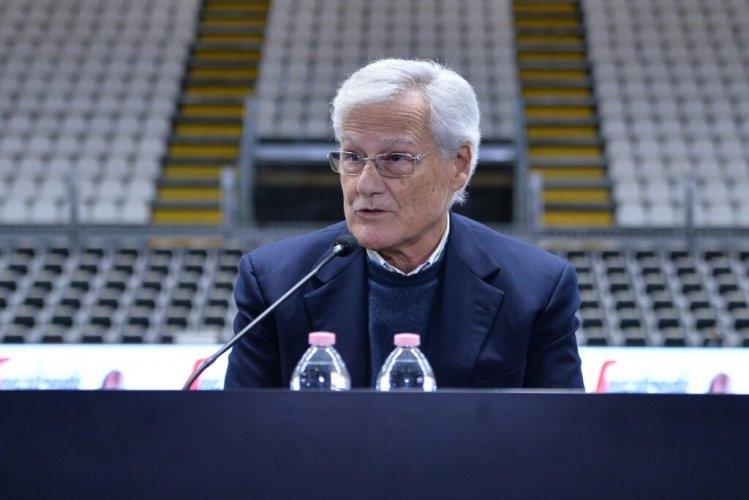 Il patron di Virtus Segafredo Bologna Massimo Zanetti ha parlato in conferenza stampa presentando il nuovo acquisto Marco Belinelli