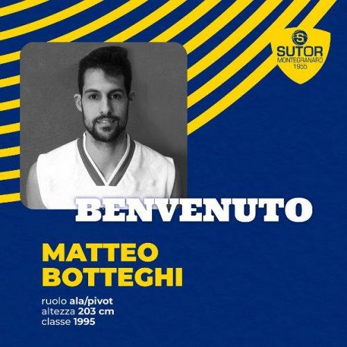 L'ala/pivot Matteo Federico Botteghi è un nuovo giocatore della Sutor Montegranaro.