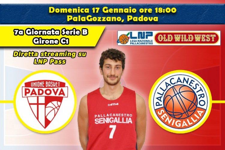 Basket, Serie B: vigilia di UPB Padova – Senigallia
