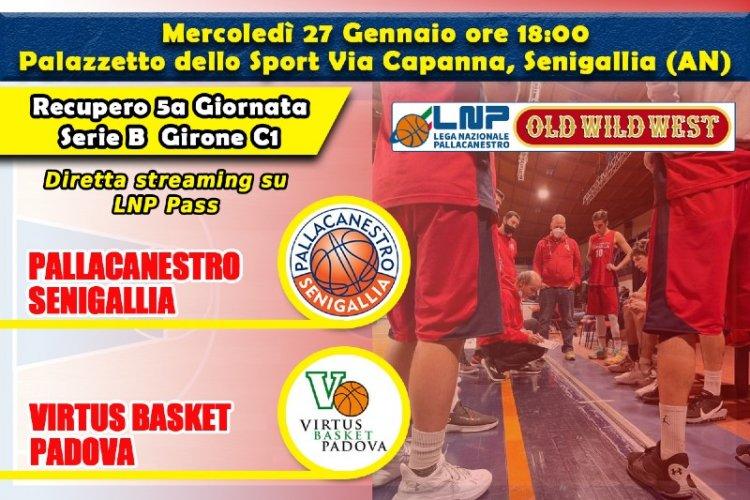 Basket, Serie B: vigilia di Pallacanestro  Senigallia – Virtus Padova