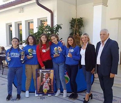 Feba Civitanova Marche premiata alla cerimonia di premiazione della stagione 18/19 dei campionati FIP Marche
