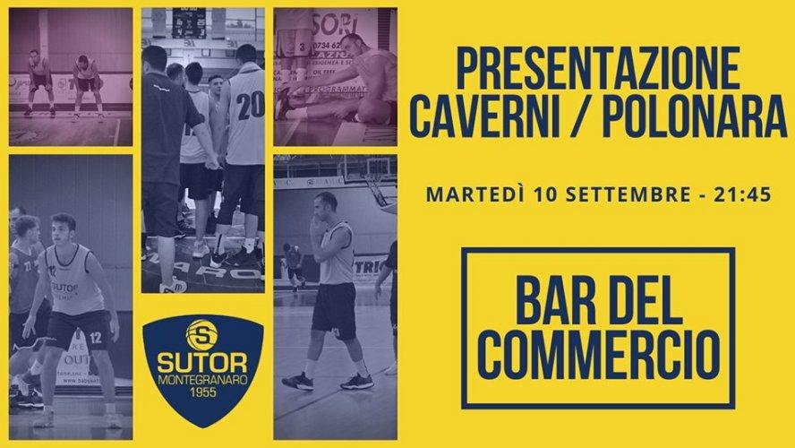 La Sutor Montegranaro presenta Caverni e Polonara martedì al Bar del Commercio.