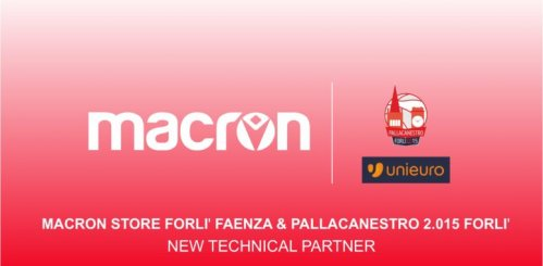 Macron è il nuovo #Partner Tecnico della Pallacanestro 2.O15 Unieuro Forlì
