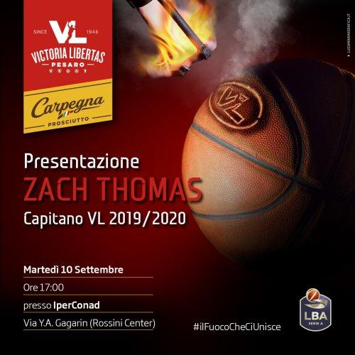 Victoria Libertas Basket Pesaro : Presentazione di Zach Thomas.