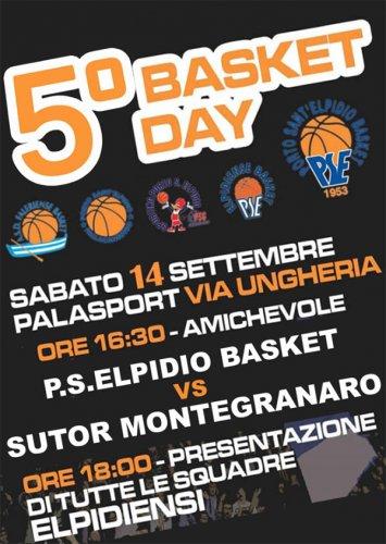 Porto S.Elpidio - Sabato al Palasport il 5° Basket Day PSE... ed una super sorpresa!