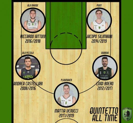 Rekico Raggisolaris Faenza :  Ecco il Quintetto All Time dei Raggisolaris