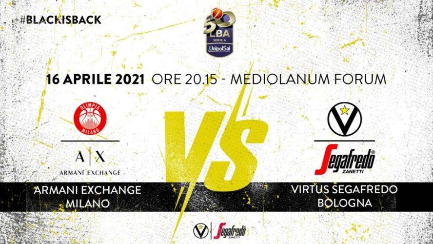 Virtus Segafredo Bologna - LBA, 28° giornata: il prepartita della sfida con Milano
