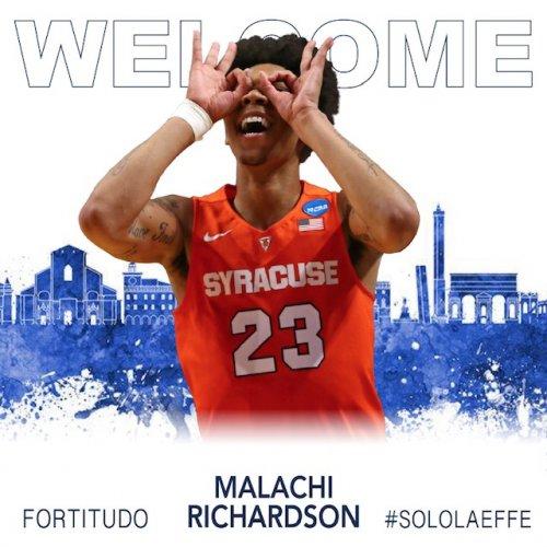 Malachi Richardson è un nuovo giocatore della Fortitudo Pallacanestro Bologna !