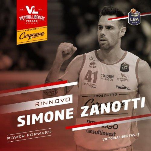 Simone Zanotti rinnova con la Carpegna Prosciutto Basket Pesaro