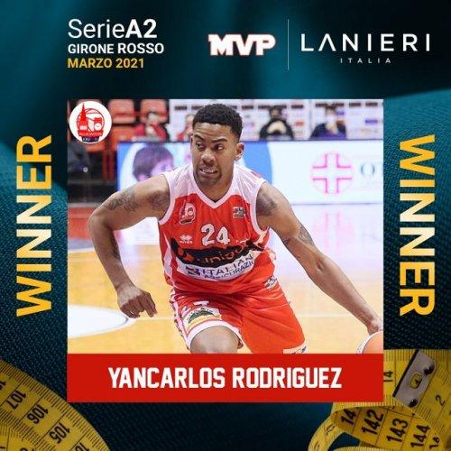 Yancarlos Rodriguez è MVP del mese di marzo della Lega Nazionale Pallacanestro