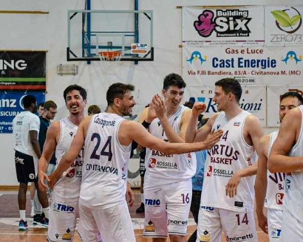Virtus Basket Rossella Civitanova Marche -  Gesteco Cividale 80-74