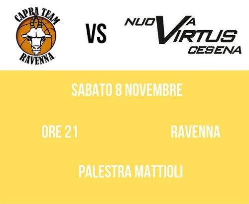 Sabato la Nuova Virtus affronterà il Capra Team Ravennate