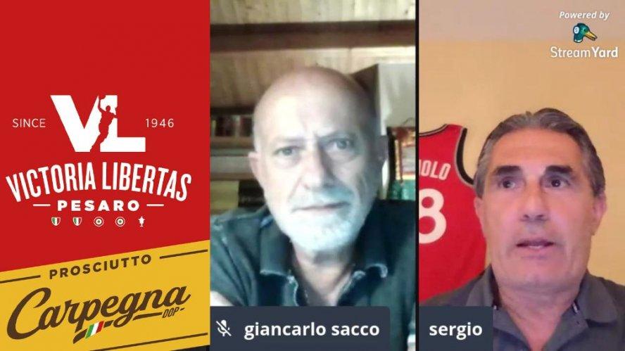 """Scariolo - Sacco 30 anni dopo:   """"A Pesaro il passo decisivo per la mia crescita """"  -  """"Sergio grandissimo programmatore """"-"""
