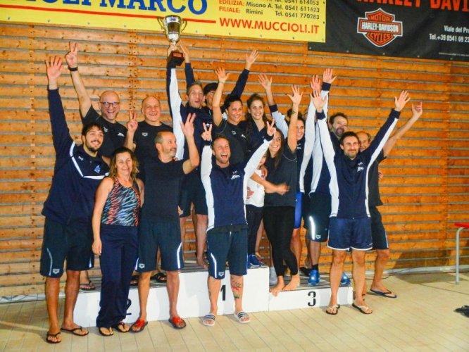 San Marino Master campione d'Italia nuoto master F