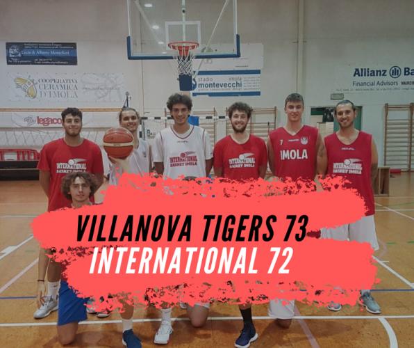 Villanova Basket Tigers - International Curti Imola   73-72  DTS