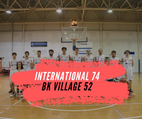 "Serie D: ""L'International schianta il Basket Village"""