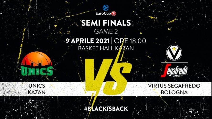Virtus Segafredo Bologna : 7DAYS EuroCup, Semifinale Gara-2: Il prepartita della trasferta a Kazan