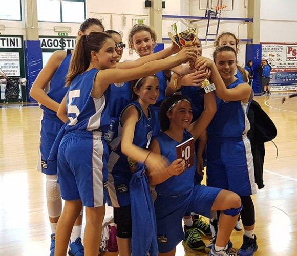 L'under 13 femminile della Feba Civitanova Marche si laurea campione regionale