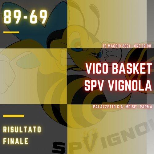 Vico Basket  vs Scuola Pallacanestro Vignola  89-69 (21-17; 18-21; 24-19; 26-12)