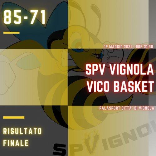 Scuola Pallacanestro Vignola – Vico Basket Parma  85-71 (20-16; 23-24; 25-13; 17-18)