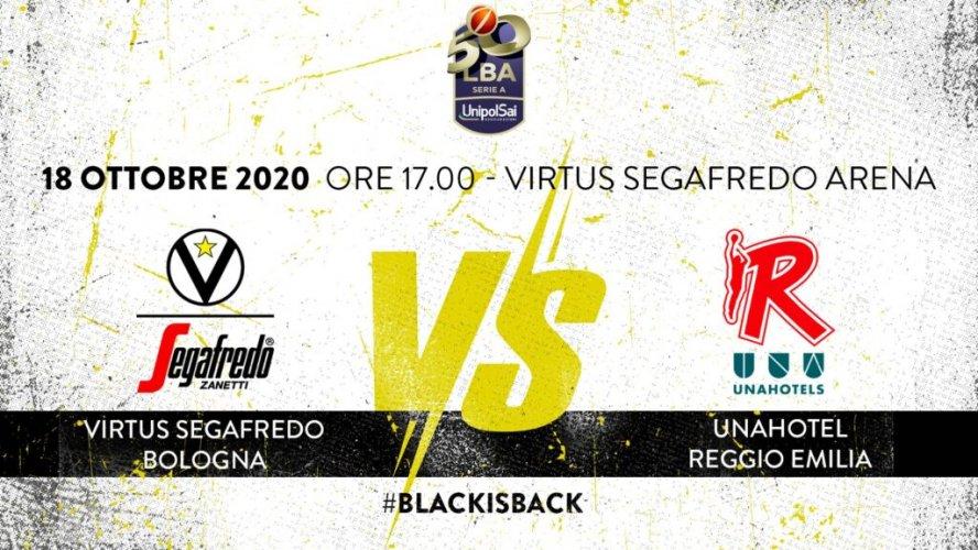 LBA, 4° giornata: Virtus Segafredo Bologna vs UNAHOTELS Reggio Emilia