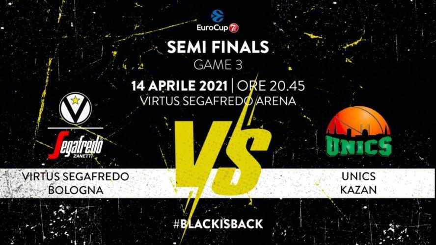Virtus Segafredo Bologna : 7DAYS EuroCup, : il prepartita della sfida con Kazan